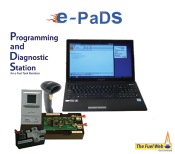 e-Pads diagnostic and programming stand.